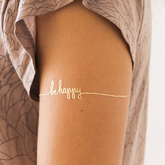 be happy temp tattoo