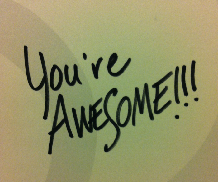 You're awesome post-it note, love your job