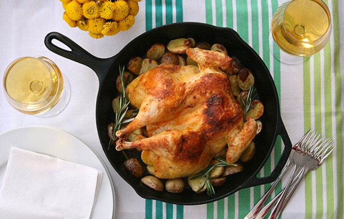 healthy meal ideas, French Market Chicken with Herbed Potatoes