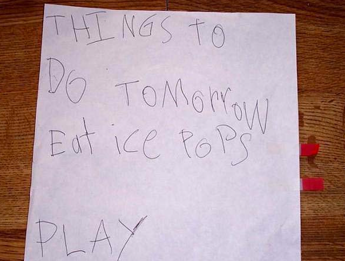 Kids to-do list