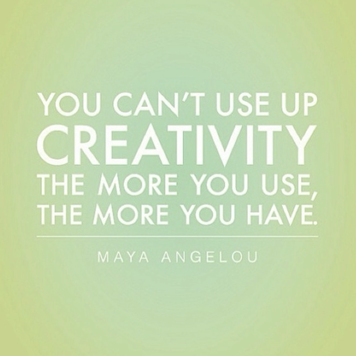 positive quotes, You can't use up creativity. The more you use the more you have.