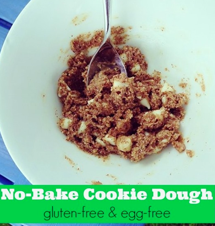 Gluten & Dairy-Free Cookie Dough, easy desserts, no bake desserts