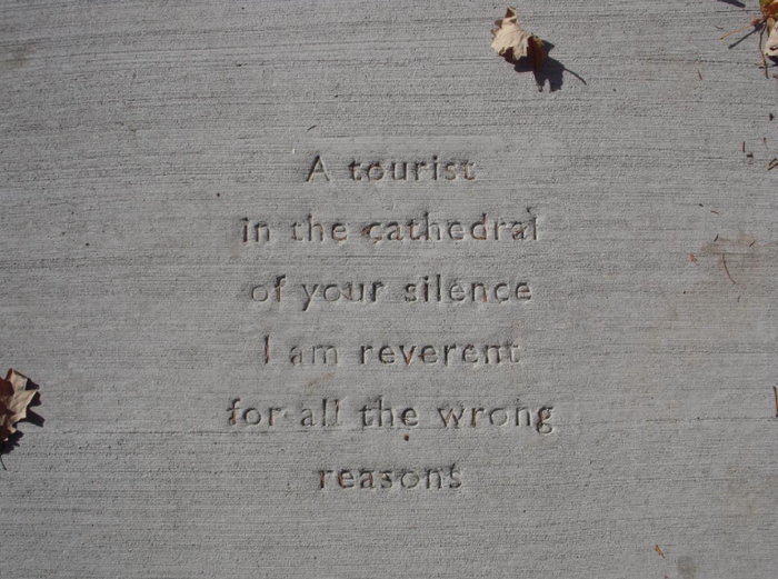 Sidewalk Poetry, positive thinking