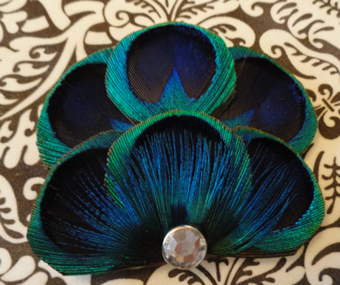 Feather hair clip, hair accessories for women