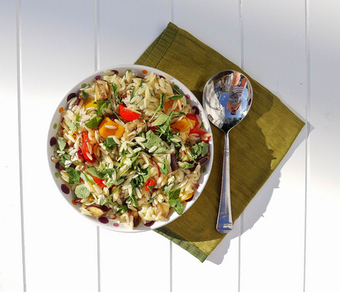 best food blogs, Grilled Vegetable Orzo