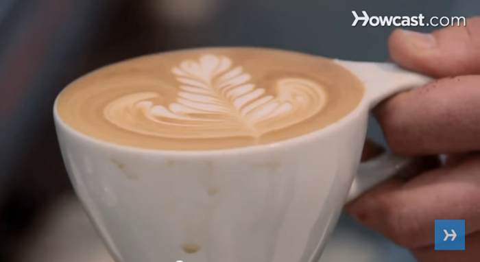 how to make shapes in coffee foam