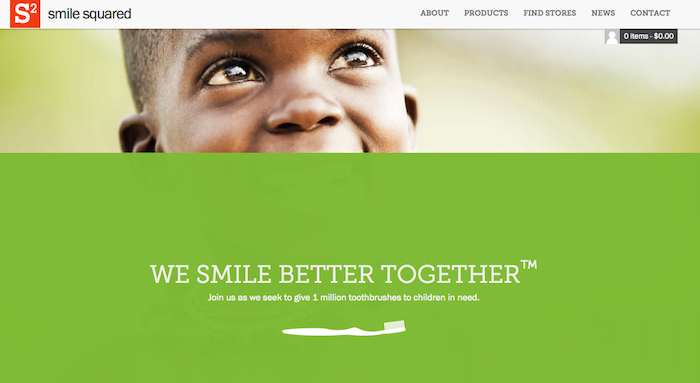 Smile Squared, giving back, Happier