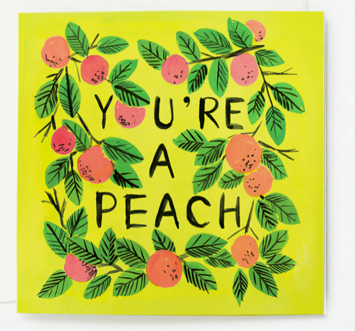 note cards, You're a peach