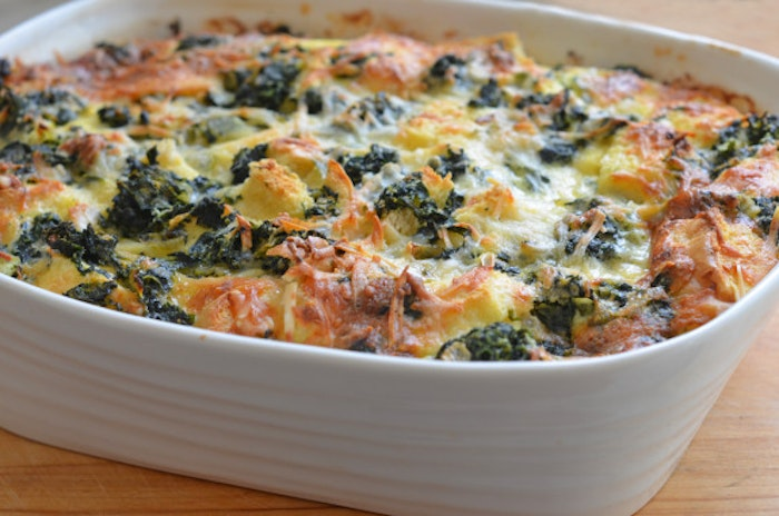Spinach And Egg Strata Recipe — Dishmaps