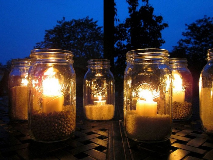 Outdoor Citronella Candlelight, backyard ideas on a budget