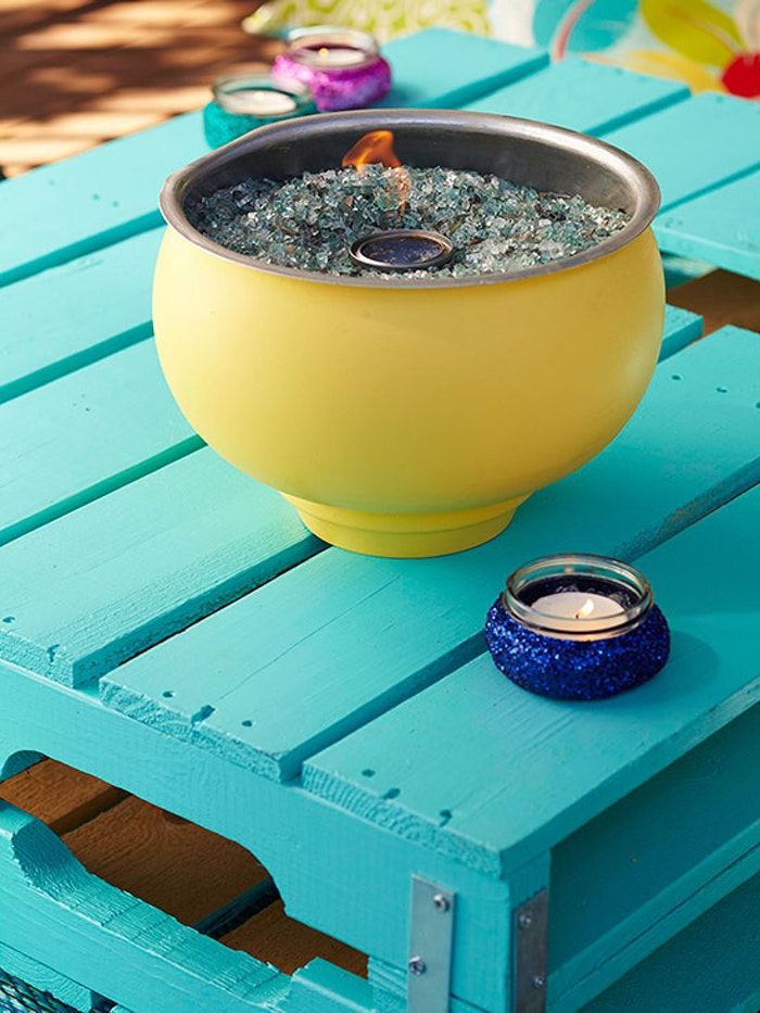 Table Top Fire Pit, backyard ideas on a budget
