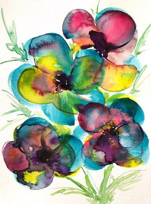 flowers watercolor by nataly