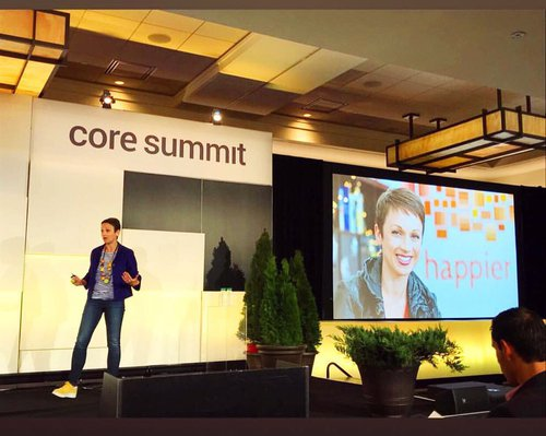 Nataly on stage core summit