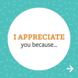 I appreciate you - card