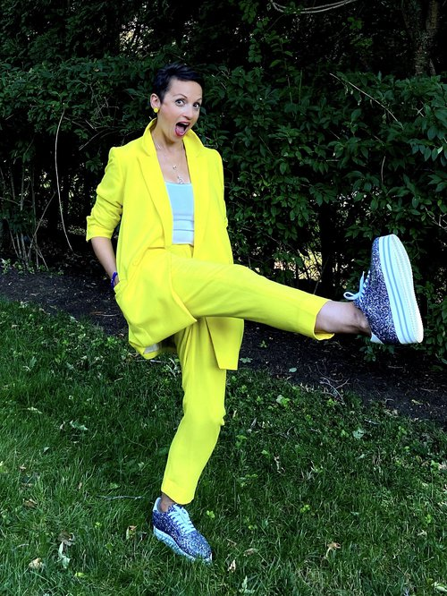 Nataly sparkle and yellow