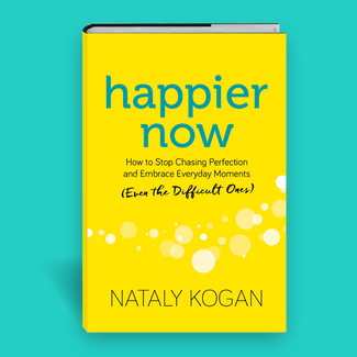Happier Now on teal