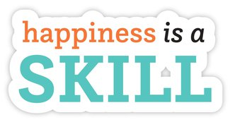 happiness is a skill sticker