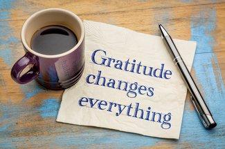 gratitude note and mug